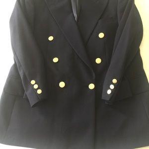 Burberrys Navy Double Breasted blazer Club Jacket